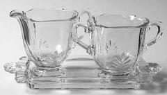 Baroque Individual Creamer&sugar On T in the Baroque-Clear pattern by Fostoria