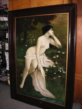 Click here for the Portrait of a Nude Lady by Henry Carling
