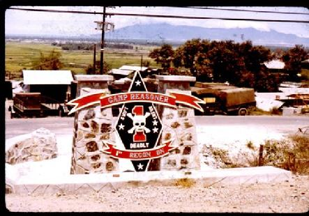 1st Recon Camp Reasoner Sign in 1970